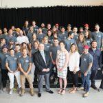 Inauguration Construc-Plus étudiants et directeur